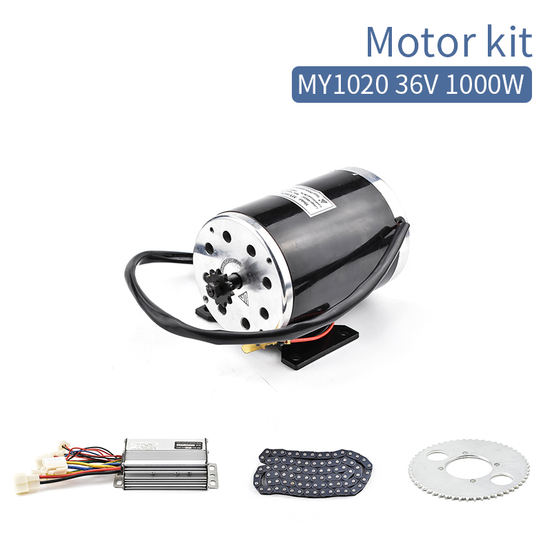 0.2 Electric bike motor kit 1000W 36V 48V Brush DC Motor with Controller Chain For e Scooter Electric bicycle E tricycle
