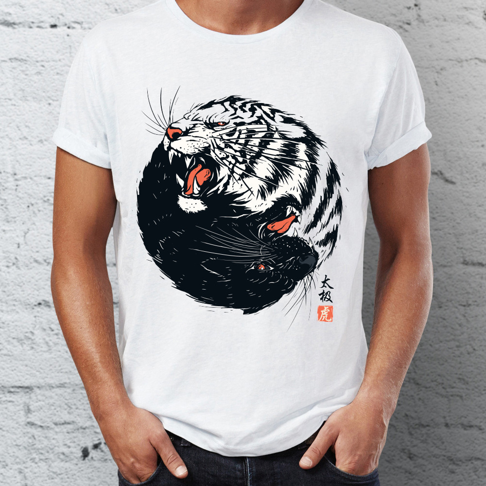 US $7 1 21% OFF|Men's T Shirt Taichi Tiger Traditional Artsy Tee-in  T-Shirts from Men's Clothing on Aliexpress com | Alibaba Group