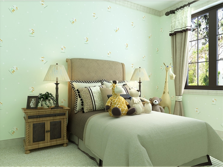 Buy Mint Color Hello Kitty Wallpaper For Girls Room Kids Bedroom Wall Paper