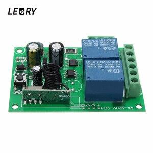 Image 2 - LEORY Control remoto por radiofrecuencia, interruptor de 2 canales cc 12V 220/315 MHz, Relé inalámbrico, 433 V, venta al por mayor