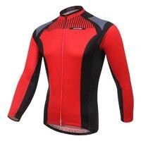 XINTOWN Cycling Jacket Men Winter 2018 MTB Team Fleece Thermal Cycling Jersey Rock Bike Ride Clothing Red Jersey