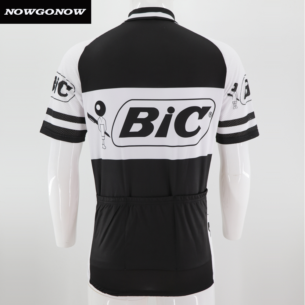 Man NOWGONOW bike wear 2018 retro cycling jersey clothing pro team racing  riding black old hort sleeve Anti-sweat Polyester 90da8a8df
