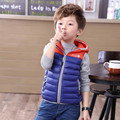 2016 New Baby Boy Vest Kids Duck Down Vest Waistcoat Coat Spring & Autumn Children Warm Hooded Girl Winter Vest Jacket 2-11 Year