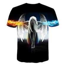 Men's Summer Print Angel T-Shirt