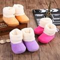 Botas de inverno Novo Bebê 0-1 Anos de Idade Meninos Meninas Bebês Algodão Shoes Primeira Walker Suave Soled Crianças Calçado Botas criança
