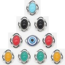Newest High Quality Metal bottom buckle plastic stone 18mm Snap Charm Rhinestone Styles 20mm Jewelry for women 10PCS