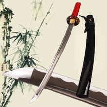 Handmade High Carbon Steel Blade  Wakizashi Sword Fully Polished blade  Sharpe Knife Genuine Rayskin