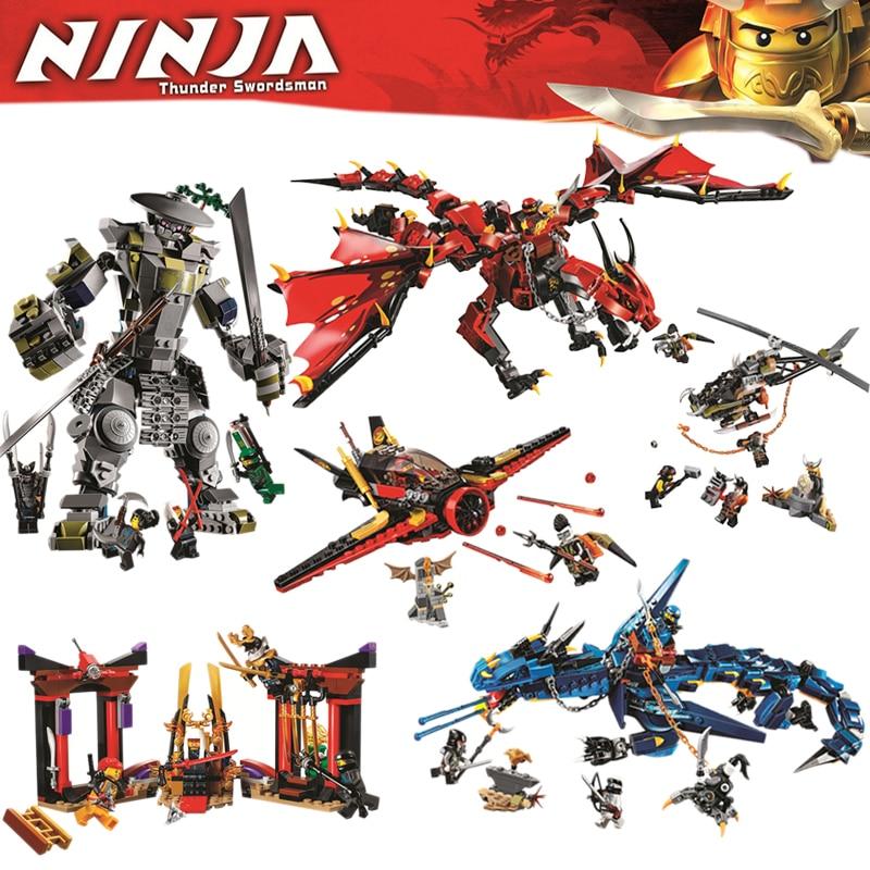 Bela Compatible Legoe Ninjagoe 2018 nuevos maestros de Spinjitzu dragón Flyers tormenta de sangre Firstbourne Building Block ladrillos regalos