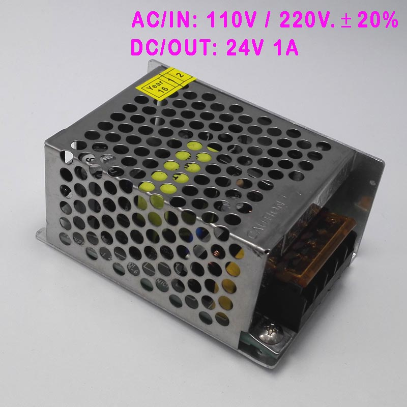 110V / 220V +/- 20% AC to DC 12V / 24V 1A adjustable power switching supply AC DC adaptor ac dc ac dc for those about to rock we salute you lp