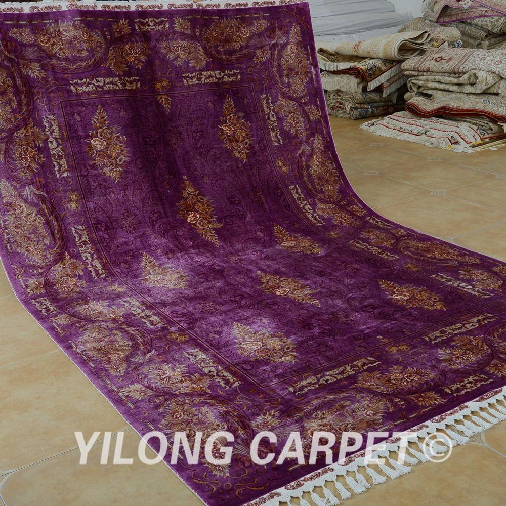 Yilong 6.56'x9.84 'Галерия килимче лилав - Домашен текстил - Снимка 2