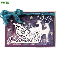 Wyse natal corte de metal dados papai noel dados da árvore do floco de neve veado trenó morrer scrapbooking para diy ofício modelo de cartão de papel