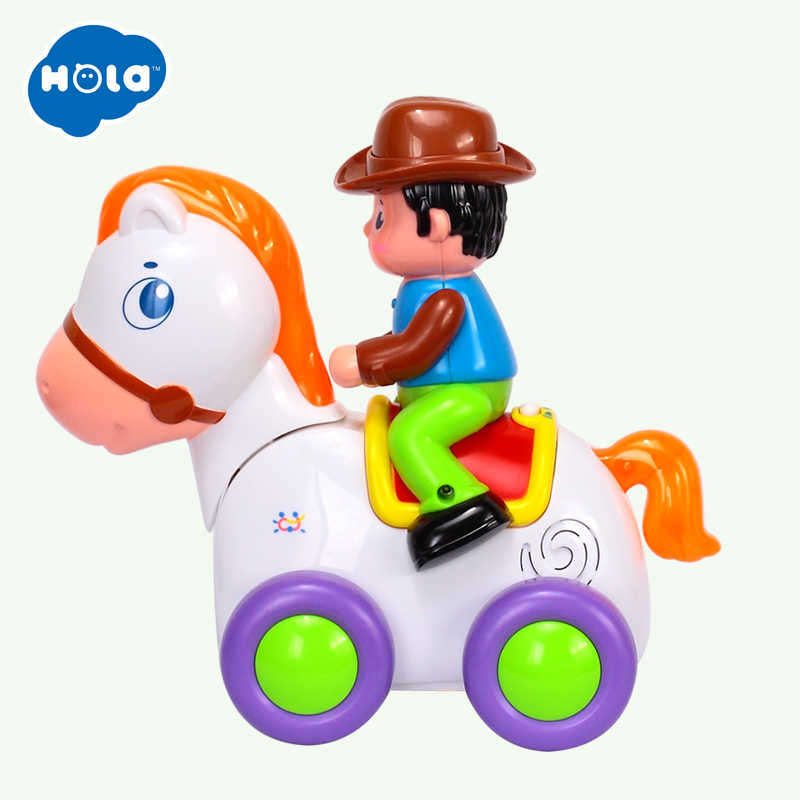 HUILE TOYS 838A Baby Toys Happy Racing Horse with Music & Lights Kids Crawl  Styling Toy for Children 18 month+