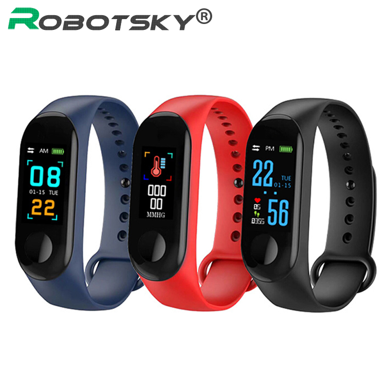 M3 Smart Band Color Screen Blood Pressure Fitness Bracelet Activity Tracker Smart Wristband For Men Women Watches PK Mi Band 3 magnetic attraction bluetooth earphone headset waterproof sports 4.2