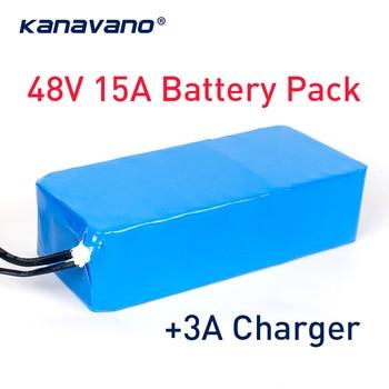 48V 15AH 13S6P 1000W BMS elektrikli bisiklet batarya paketi 48V lityum iyon batarya ve 3A şarj ücretsiz gümrük ücretsiz