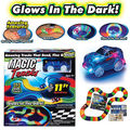 As Seen on TV Magic Tracks The Amazing Racetrack that Can Bend, Flex Glow 11Ft New