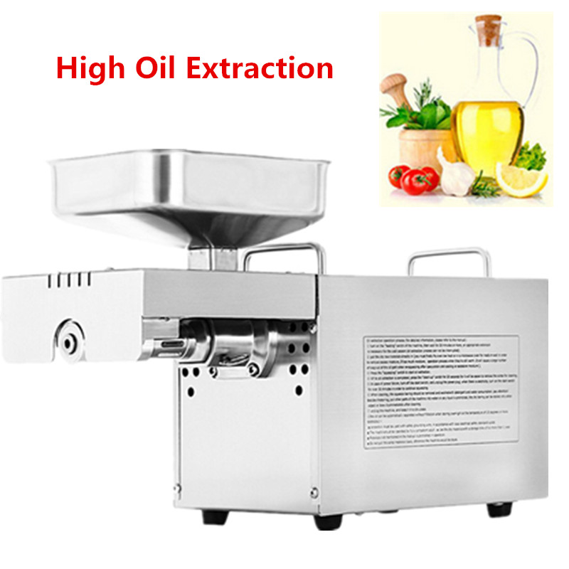 Automatic Stainless Steel Mini Home Use Oil Press Machine Cold Hot Press For Peanut,Coconut Sesame Oil Extraction Machine 110 240v commercial small oil press machine peanut sesame cold press oil machine high oil extraction rate cheap price page 1