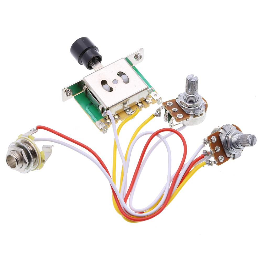 Rocket guitar harness 3 way toggle switch 1V1T1J500K as LP double ...