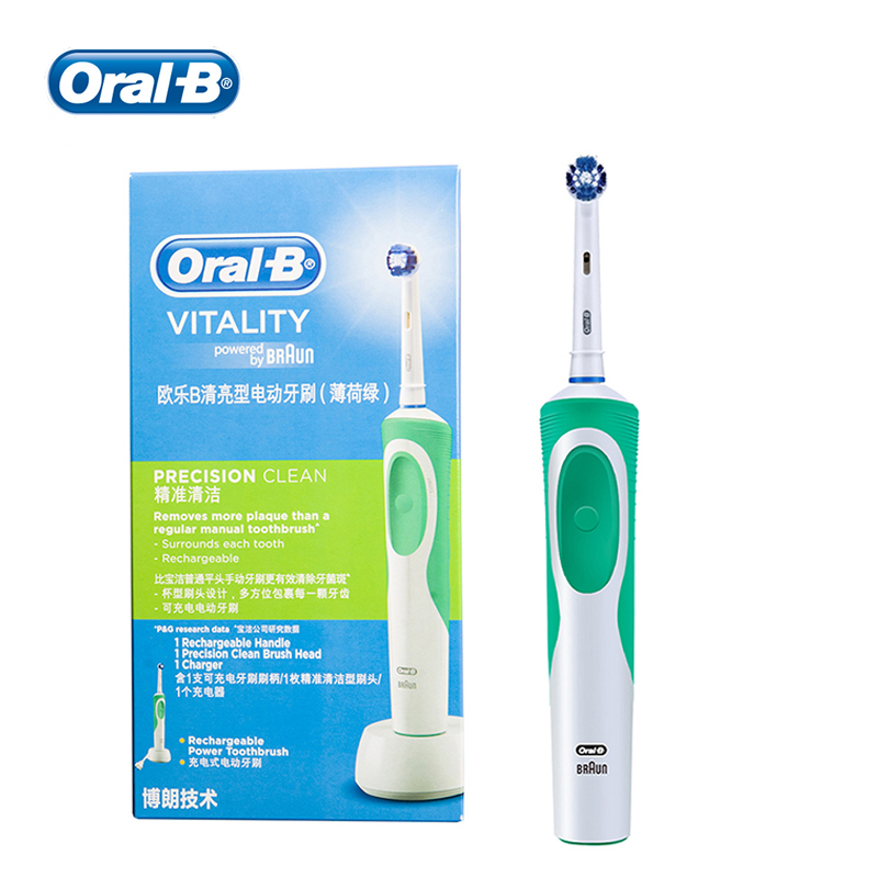 Oral B Electric Toothbrush Vitality Electric Toothbrush Precision Clean Teeth Remove Plaque image