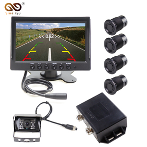Monitor de coche Sinairyu DC 12 V/24 V 7 pulgadas con cámara de visión trasera y Sensor de estacionamiento para camiones pesados y vehículos especiales BUS