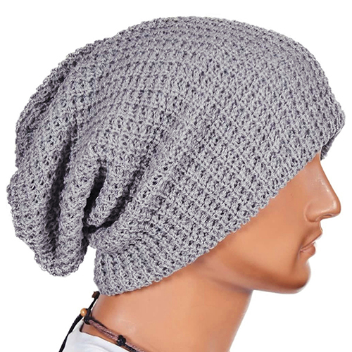 Men Fashion Knitting Slouchy Beanie Cap Baggy Vertical Stripe Warm Winter  Hat 1774387df0b