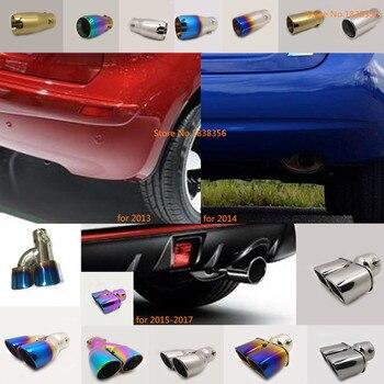 Voor Nissan NOTE 2013 2014 2015 2016 auto rvs uitlaat buitenkant einde staart pijp outlet wijden uitlaat tip tail frame