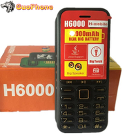 H6000 Mobile Push Button Phone Powerful 4 Sim Card Bluetooth MP3 Radio Senior Cellular Keyboard Cheap Feature 1.8 Inch CellPhone