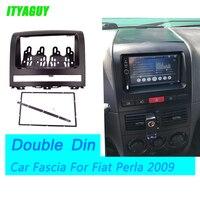 ITYAGUY Neue Zwei Din Fascia Für Fiat Perla 2009 Radio CD DVD Stereo Panel Dash Mount Installations Trim Kit Rahmenplatte Bezel