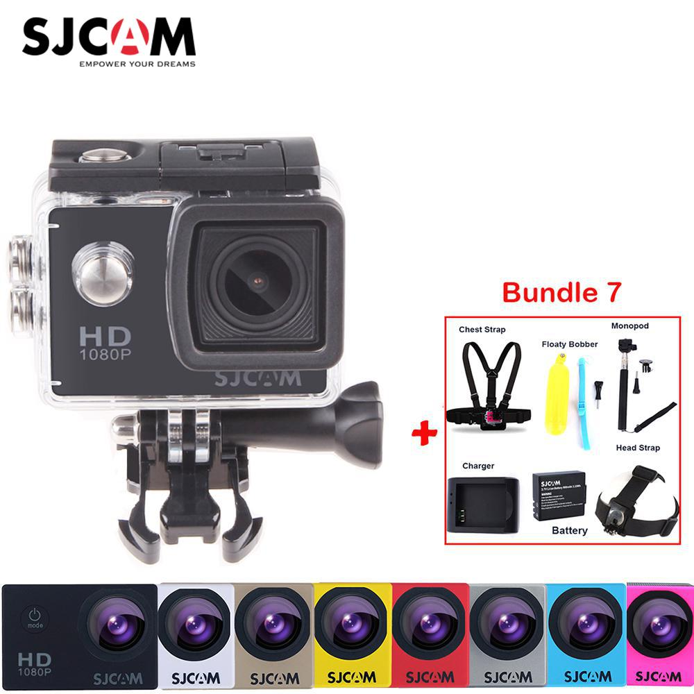 100% Original Sjcam SJ4000 30M Waterproof  Mini Outdoor Sports Action Camera Car Mini DVR + Various Accessories
