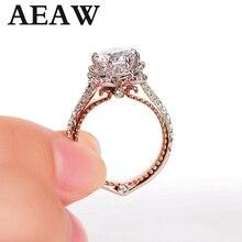 الصلبة 10K الذهب الأبيض والأصفر مركز DF اللون 1ctw مويسانيتي الماس خمر خاتم الخطوبة للنساء الزفاف الزفاف