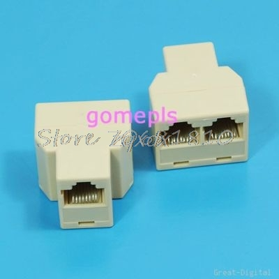 цены 10Pcs/lot RJ45 Splitter 1to2 Network Ethernet Connecter Adapter Z17 Drop ship