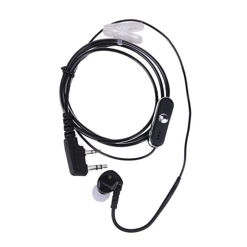 2Pin Interphone Single Ear Earpiece Noise Cancelling Earphone Headset In Ear With PTT MIC For BAOFENG Retevis Kenwood Radios