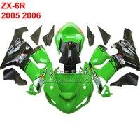 Специальные мотоцикл комплект для KAWASAKI ZX6R ZX 6R Ninja 2005 2006 05 06 все черный Обтекатели обтекателя xl95