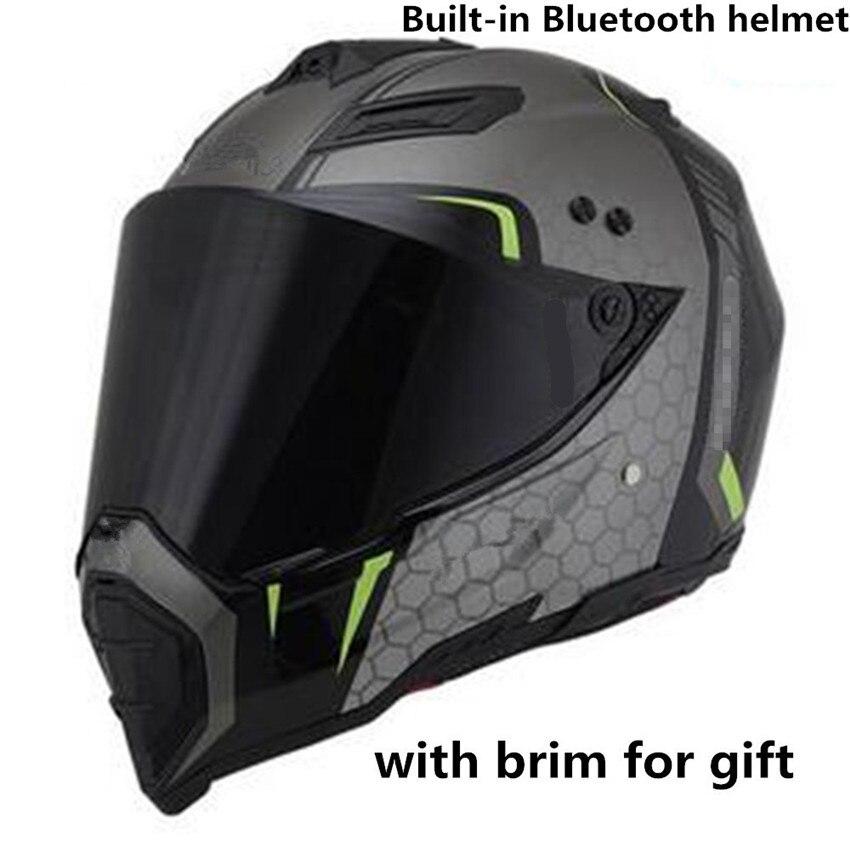 brands helmet Multi BT Interphone Motorcycle Bluetooth Helmet Intercomunicadores Intercom Headset can listen music худи print bar listen music