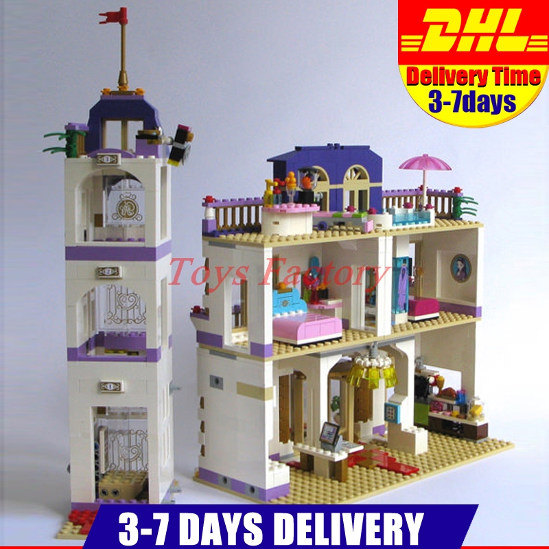 Clone 41101 DHL Lepin 01045 1676 PCS Girl Heartlake Grand Hotel Popular Kids DIY Building Blocks Bricks Toys children Gifts lepin 01045 1676pcs girls series heartlake grand hotel set children eucational building blocks bricks toys model gift 41101
