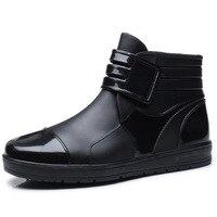 NEW fashion rainboots slip water shoes fishing boots short rubber rain boots man bot garden Waterproof Casual boots Men SHOES