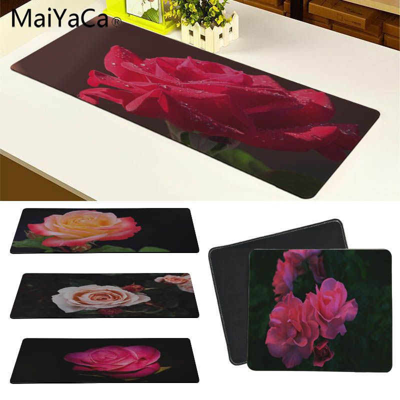MaiYaCa Rose Flower Large Mouse pad PC Computer mat Size for 30x90cm and 40x90cm Gaming Mousepads
