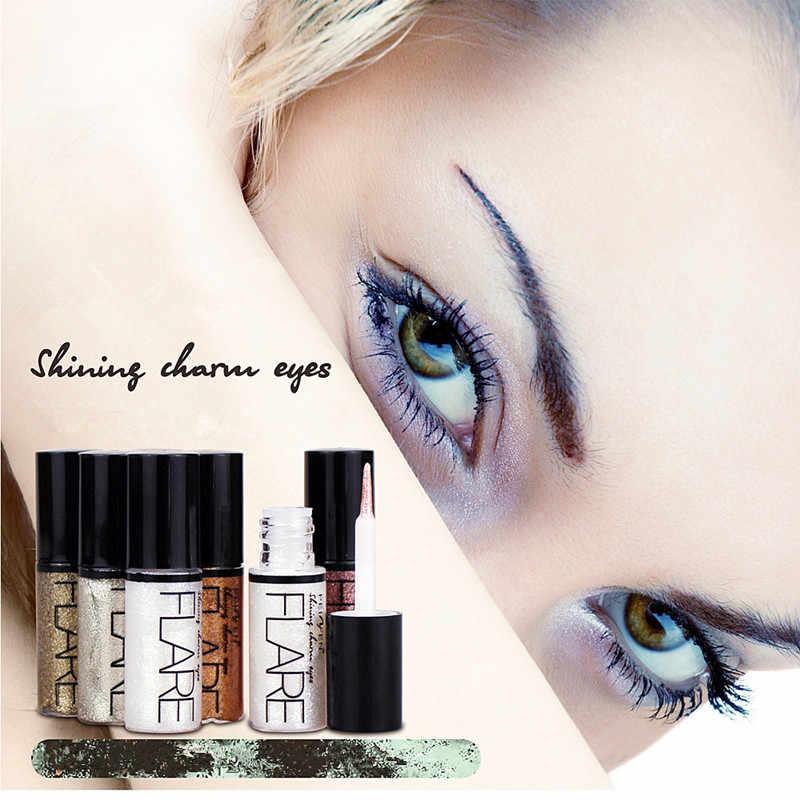 Profesjonalne nowe błyszczące wkładki do oczu kosmetyki dla kobiet Pigment srebrna róża złoty kolor płynny brokat Eyeliner tanie makijaż uroda