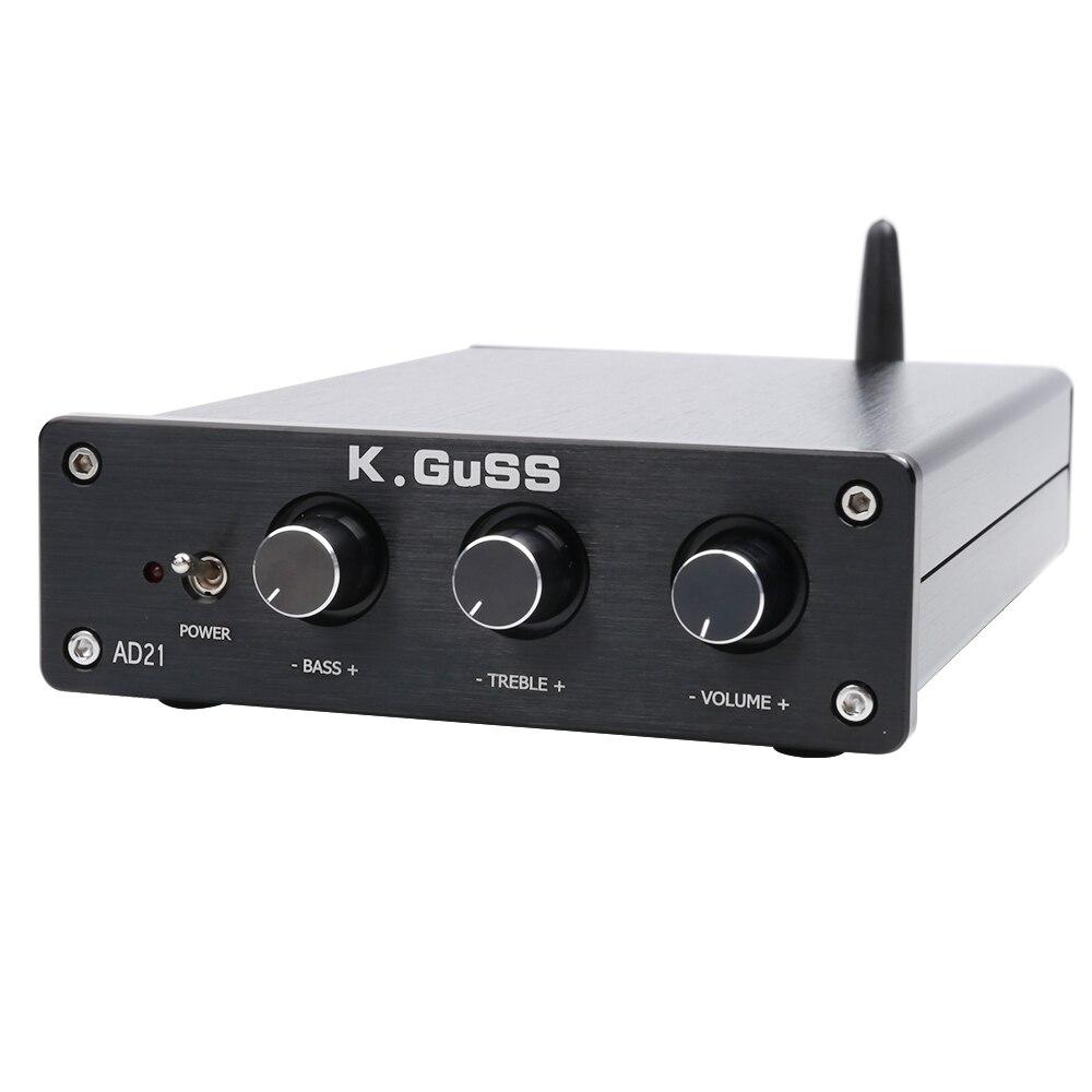 Новый K. GUSS AD21 класса D HIFI аудио TPA3255 2,1 Bluetooth (IIS) ЦАП PCM5100 мощность усилители домашние 150 Вт + 150 300