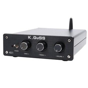 Nuevo K GUSS AD21 clase D de audio de alta fidelidad, TPA3255 2,1 Bluetooth (IIS) DAC PCM5100 amplificador de potencia 150 W + 150 W + 300 W