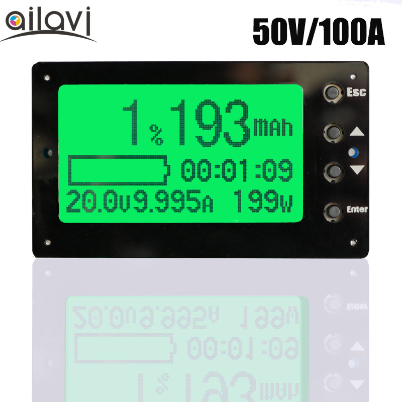 50V 100A Battery Coulometer TF03 Professional Precision Battery Tester for LiFePo4 Coulomb Counter 100%new 50v 50a precise real capacity tester meter for lifepo4 lithium lipo liion battery