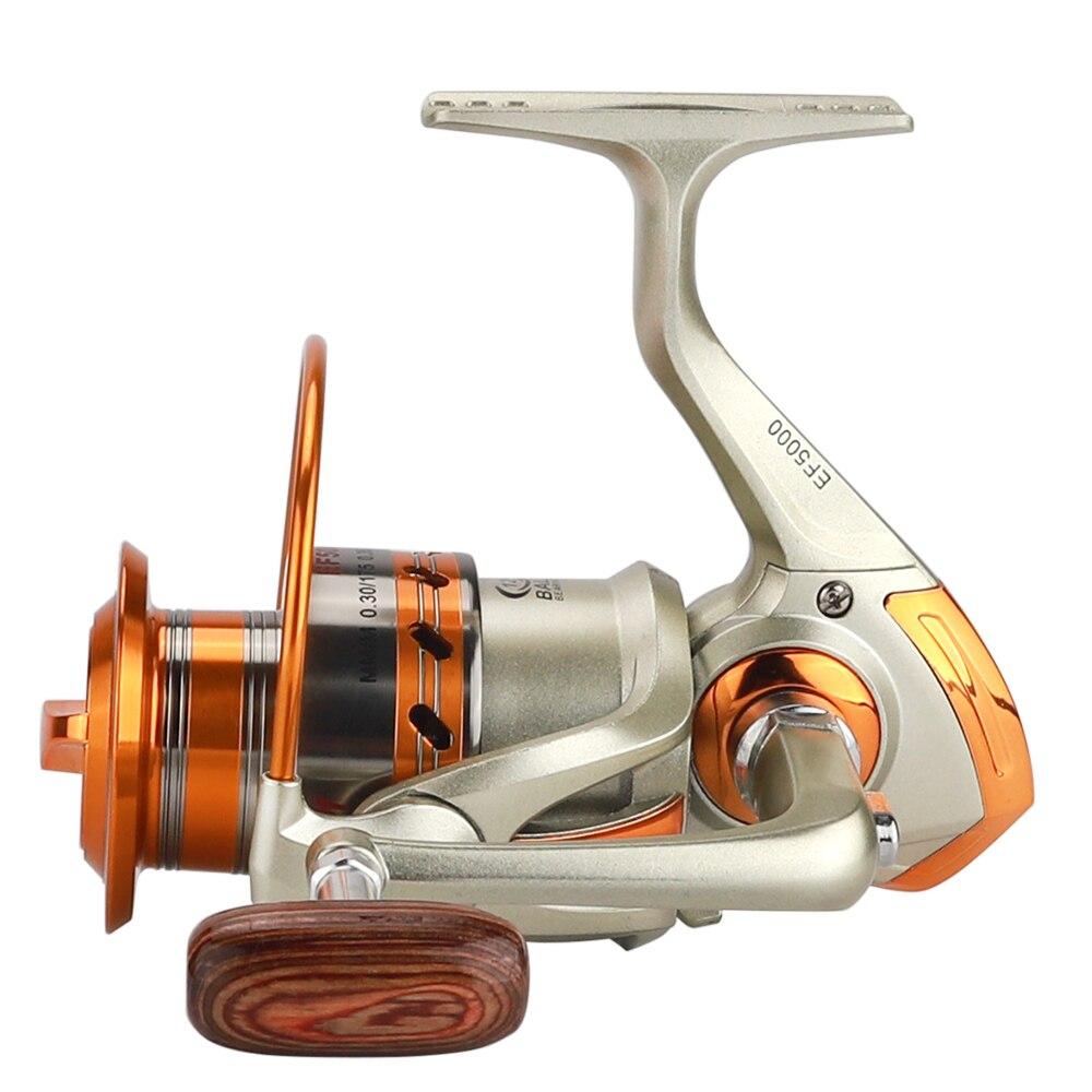 Carrete de pesca giratorio de carrete de Metal 9000-1000 12BB rueda de pesca para Carretes de pesca Frescos/salados pesca aparejos