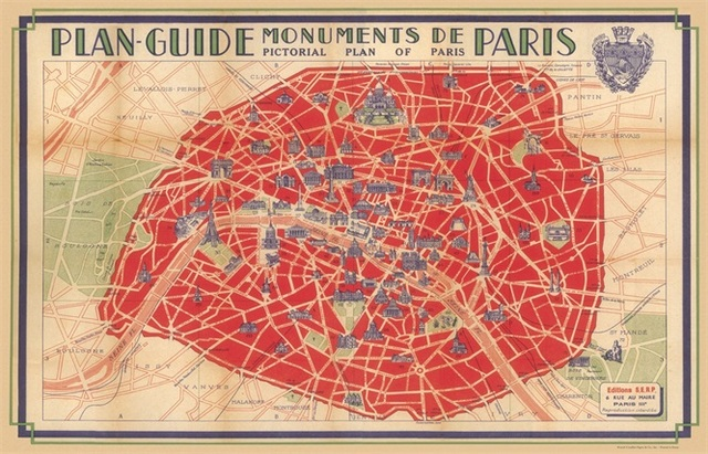 Aliexpress Buy Plan Guide Monuments De Paris Map Classic – Map of Paris with Monuments