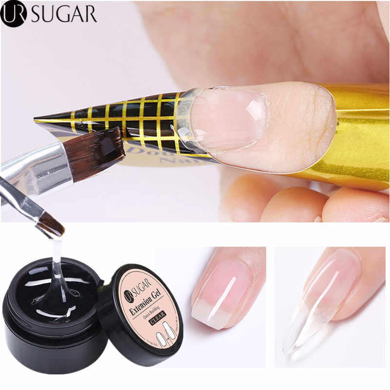 Ur Suiker Jelly Poly Uv Gel Acryl Quick Building Extension Gel Polish Vinger Verlengen Builder Uv Led Gel Glasvezel Nail vorm