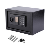 8.5L Digital Electronic Coded Lock Home Office Safe Box Override Key Programmed Between 3 8 Numbers Keypad with LED Indicator