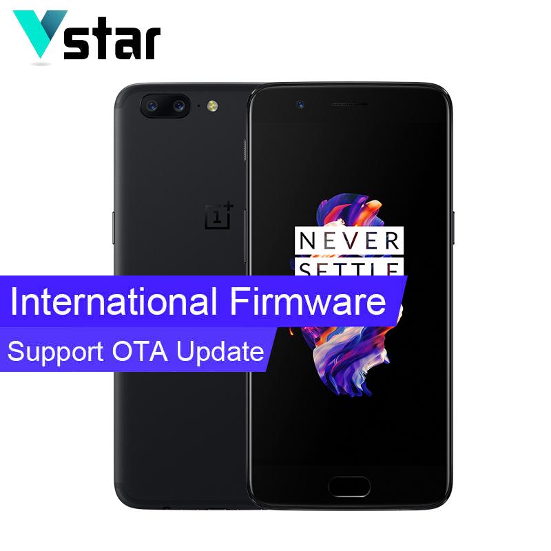 International Firmware Oneplus 5 8GB RAM 128GB ROM 5.5 Inch A5000 Snapdragon 835 Octa Core H2OS 3300mAh Three Cameras OTA Update
