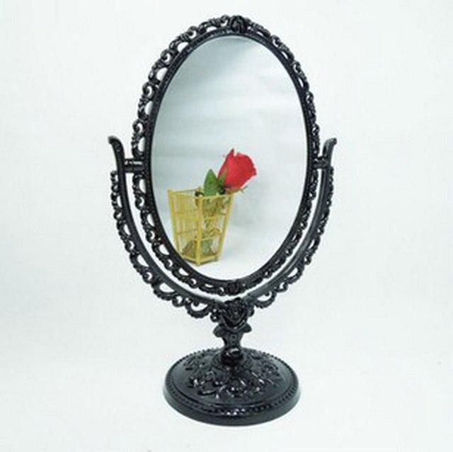 Profesional espejo de maquillaje con luz de 8 Pulgadas de Doble Cara espejo de aumento de baño compacto espejo cosmético de la señora regalo Fino
