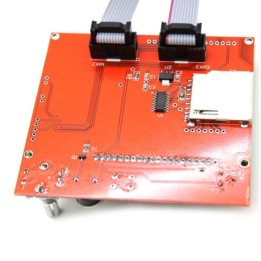 12864 Lcd Graphic Smart Display Controller Module With Connector Cnc 40pcs Jumper Cable Kabel 30cm Male To Female Dupont For Breadboard Print Your 3d Designs Without Pc Just A G Code Design Stored On The Sd Card Package List 1x Adapter 2x Fc