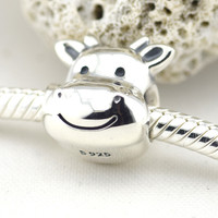 Cute Chicken 925 Sterling Silver Beads Fits Pandora Original Charms Bracelet Metal DIY Necklace Beads Sterling