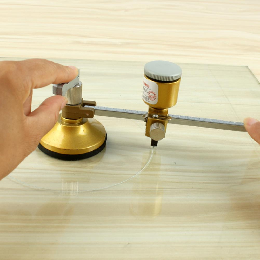 Professional Compass Type Glass Cutting Round Cutter Multi-Function Circular Glass Cutter Kitchen Ventilator Tapper