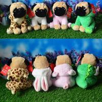 Cute Bakery Doll Plush Toy Pug Turned Rabbit Dinosaur Leopard Pig Simulation Animal Toys Children Gift